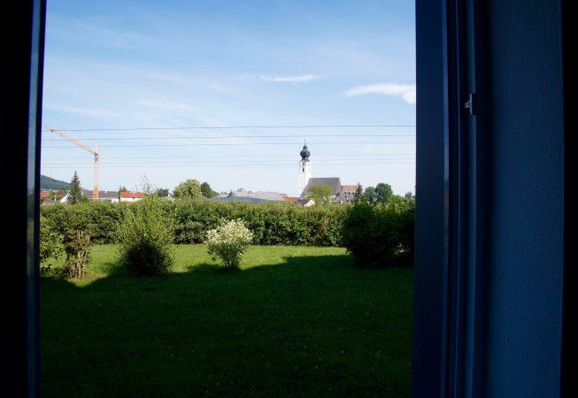 Ausblick auf den Kirchturm